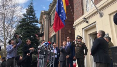 Venezuela Flag, diplomatic office, Washington