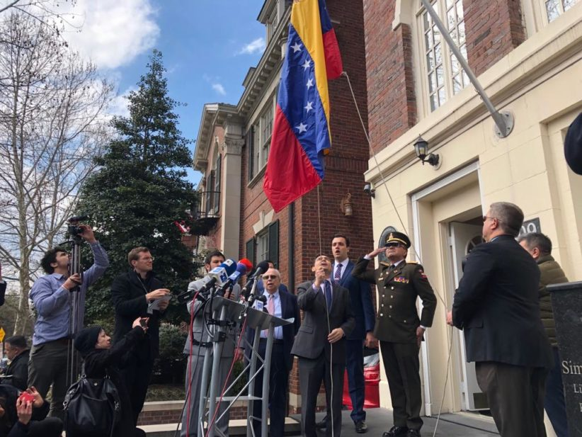 Venezuela Flag, diplomatic office, Washington