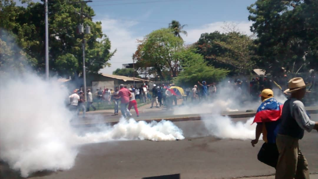 Tear Gas at a Protest in Caracas, Venezuela