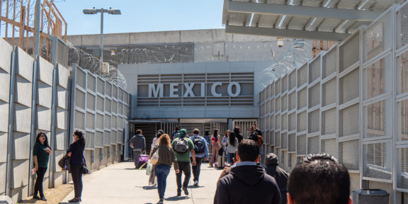 US - Mexico border in California