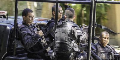 Military Police in Rio de Janeiro, Brazil.