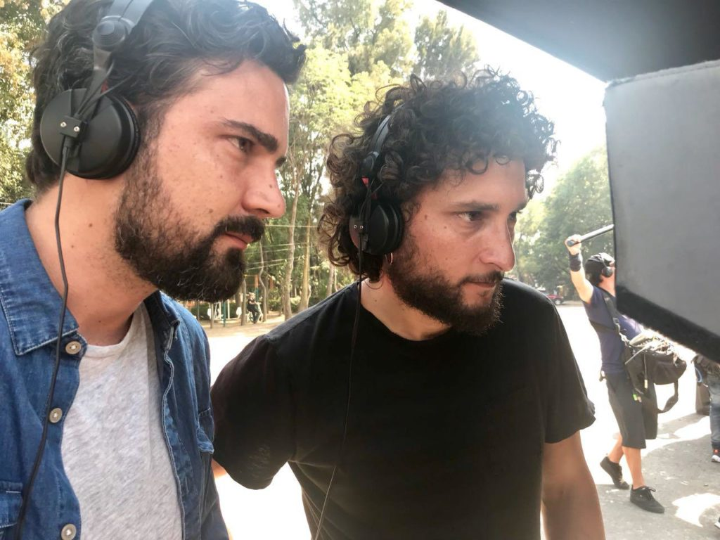 The Netflix creators of the show Tijuana are seen directing the TV series from behind the camera.