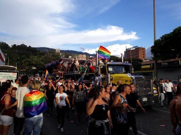 Pride parade in Medeliin, Colombia