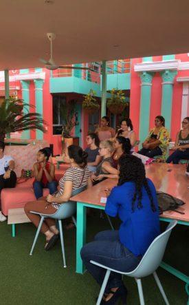 women listening entrepreneurship workship