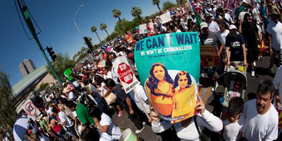 Protest immigration law arizona sb1070