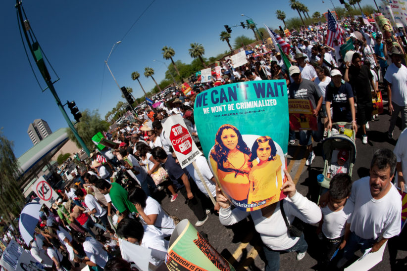 Protest immigration law arizona sb1070