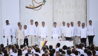 Colombia government and FARC sign peace agreement in Colombia