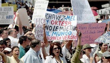 protest honduras president truth