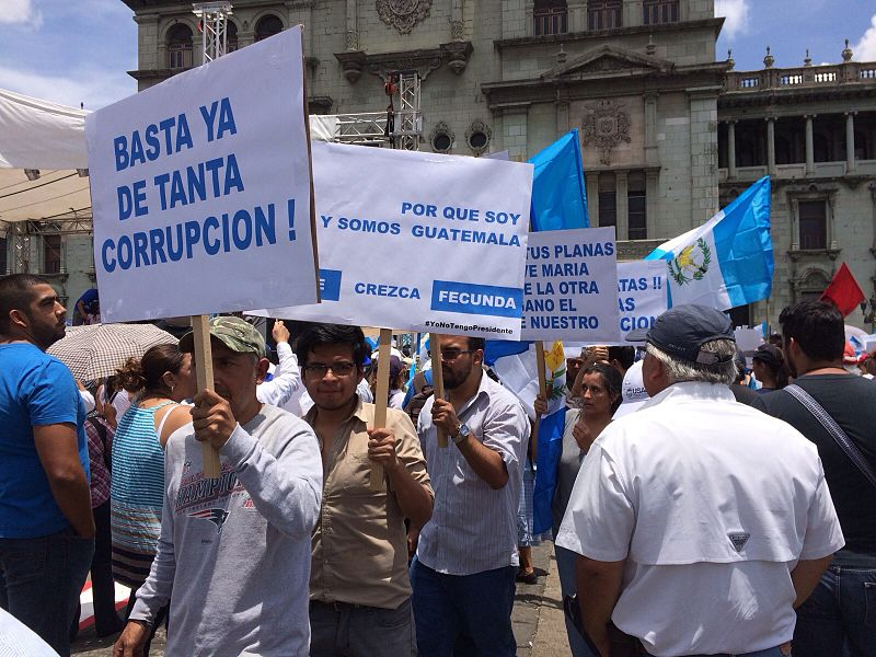 National strike protest in Guatemala against corruption