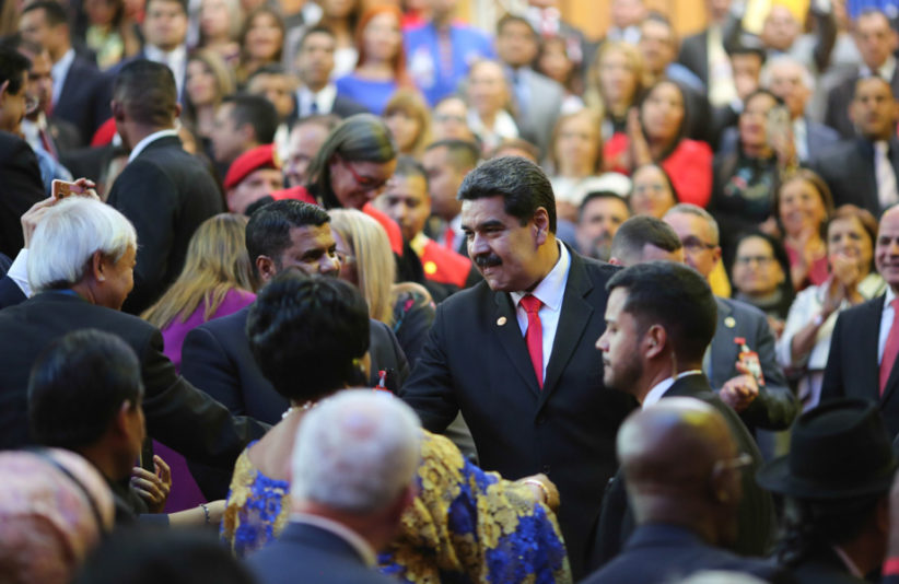 Nicolas Maduro at inauguration 2019