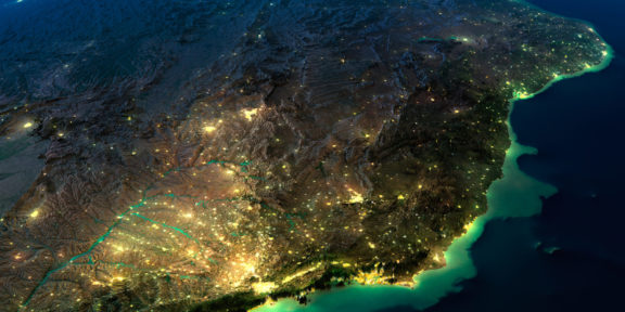 Brazil at night