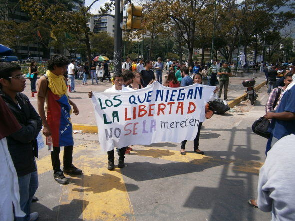 Venezuela protests against the Nicolas Maduro government