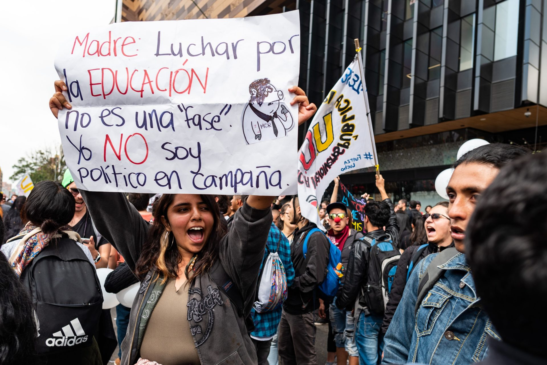 In photos: Bogotá students protest against police violence