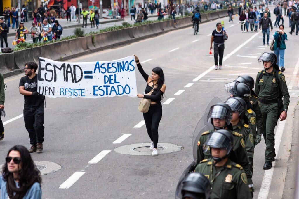 Bogota Student Protests ESMAD