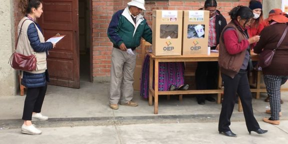 Voting in Bolivia