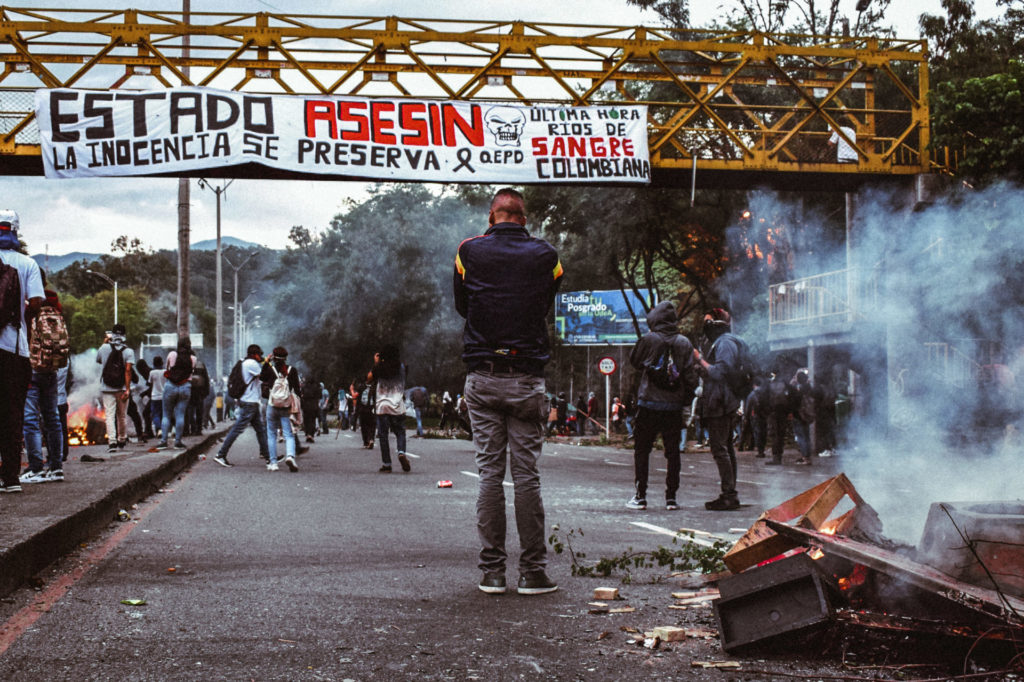 National Strike Medellin Colombia