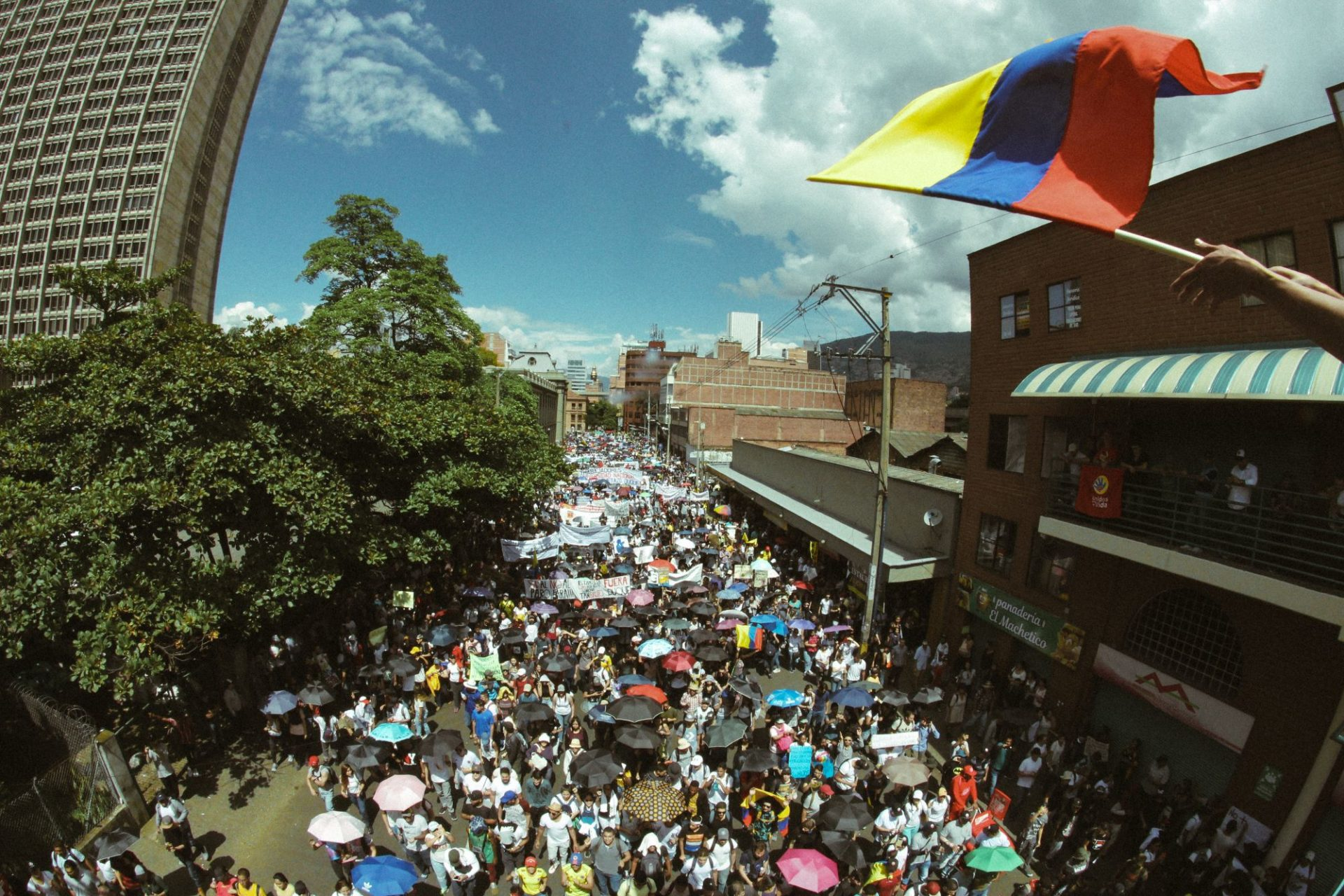 In photos: Colombia's national strike from the streets of Medellín