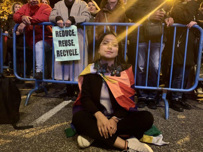 Indigenous teen climate activist Helena Gualinga.