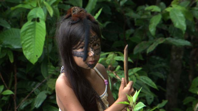Helena Gualinga growing up in the Sarayaku community, Ecuador, 2011.